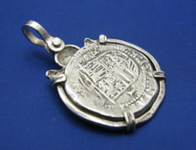 Load image into Gallery viewer, '2 Reale' Pirate Treasure Doubloon Replica with Skull Bezel