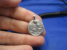 Load image into Gallery viewer, Small Atocha Pirate Coin Replica Pendant Necklace Charm Beach Shipwreck Jewelry