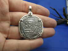 Load image into Gallery viewer, Large Sterling Silver Reproduction Coin of Spanish King Shield