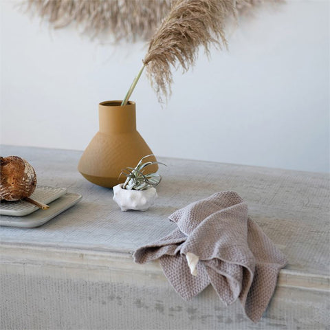 Cotton Knit Tea Towel in neutral colors, beautiful absorbent texture
