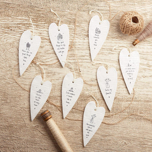 Porcelain Heart Sentiment Gift Ornament