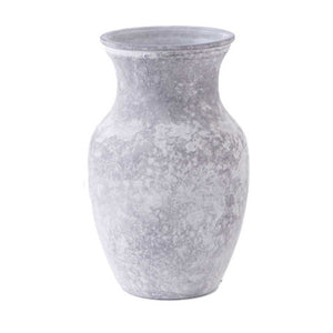 Gray Frosted Glass Finish Vase