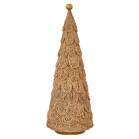 "Handmade Layered Bankuan Cone Tree,  21""H"