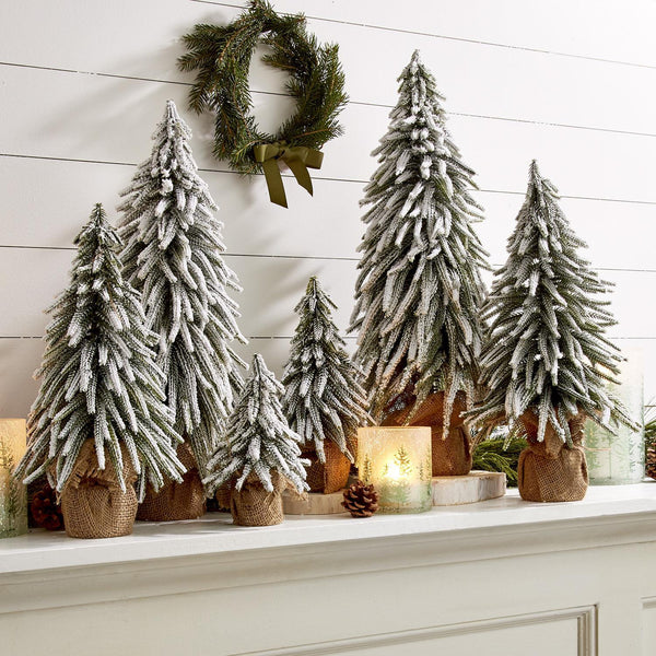 Snow Covered Christmas Tree, 5 Sizes