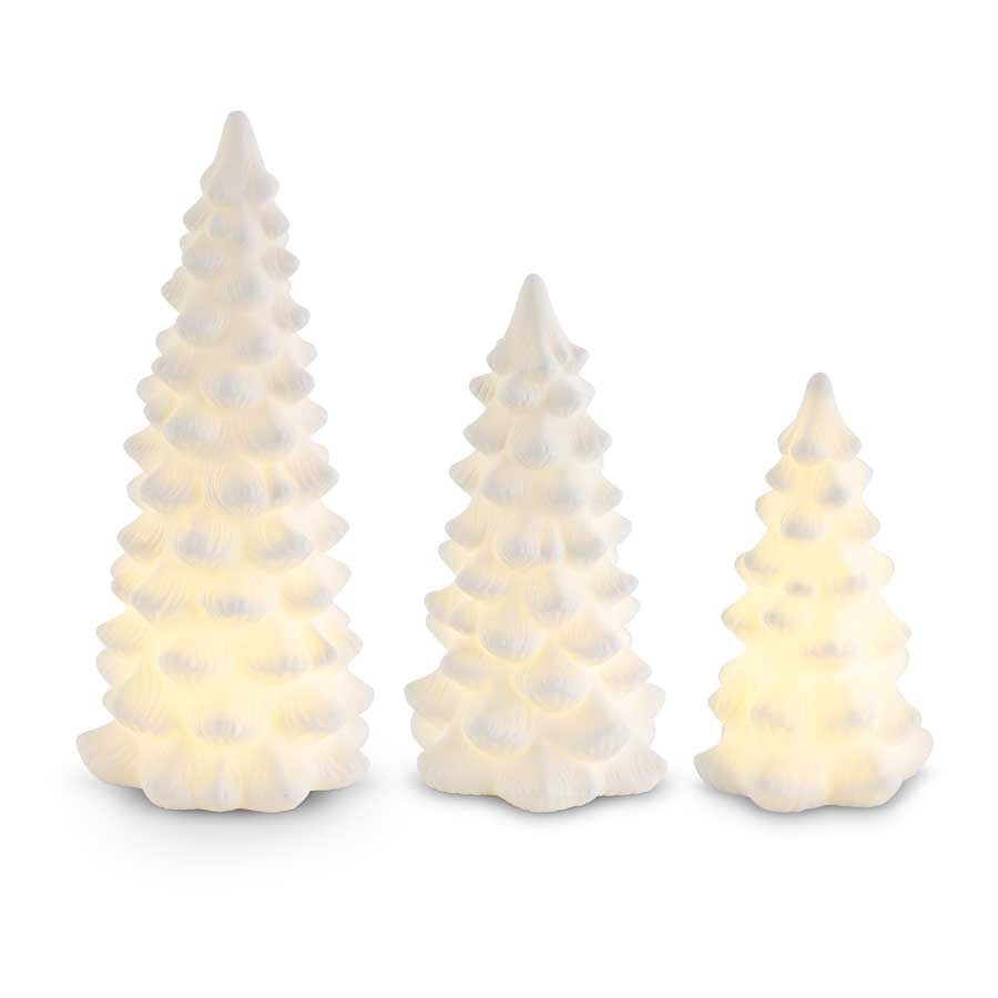 White Porcelain LED Trees