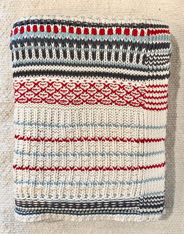 Cozy Striped Cotton Throw