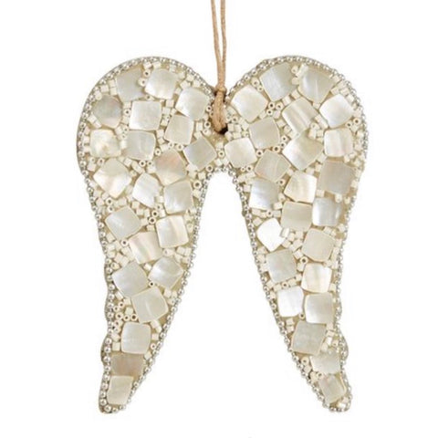 Mother of Pearl Angel Wings Ornament