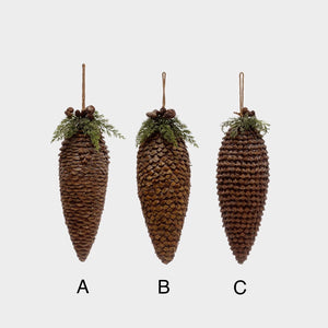 Woodland Pinecone Ornament, 2 Sizes, 3 Styles