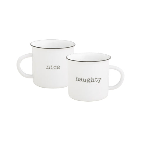 Nice/Naughty Camp Mug, 12oz.