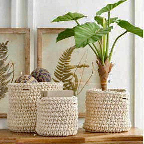 Cream Woven Baskets