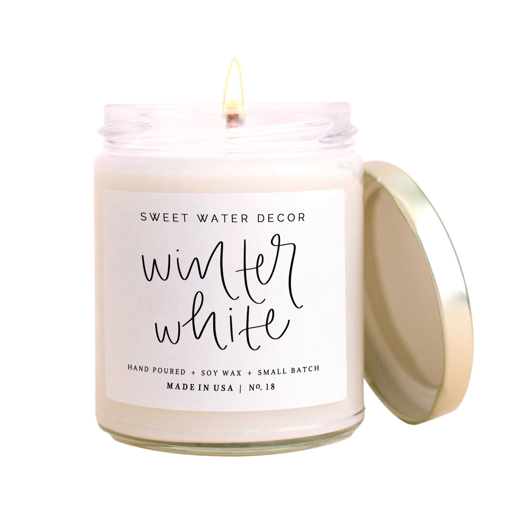 Winter White- Jar Candle with Gold Lid
