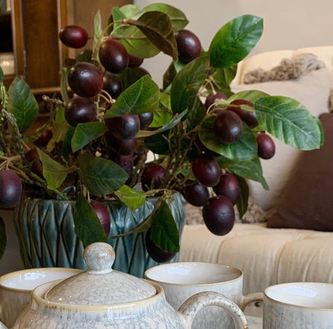 "16"" Plum Stem - the Bower decor market  at The Highlands Wheeling WV"