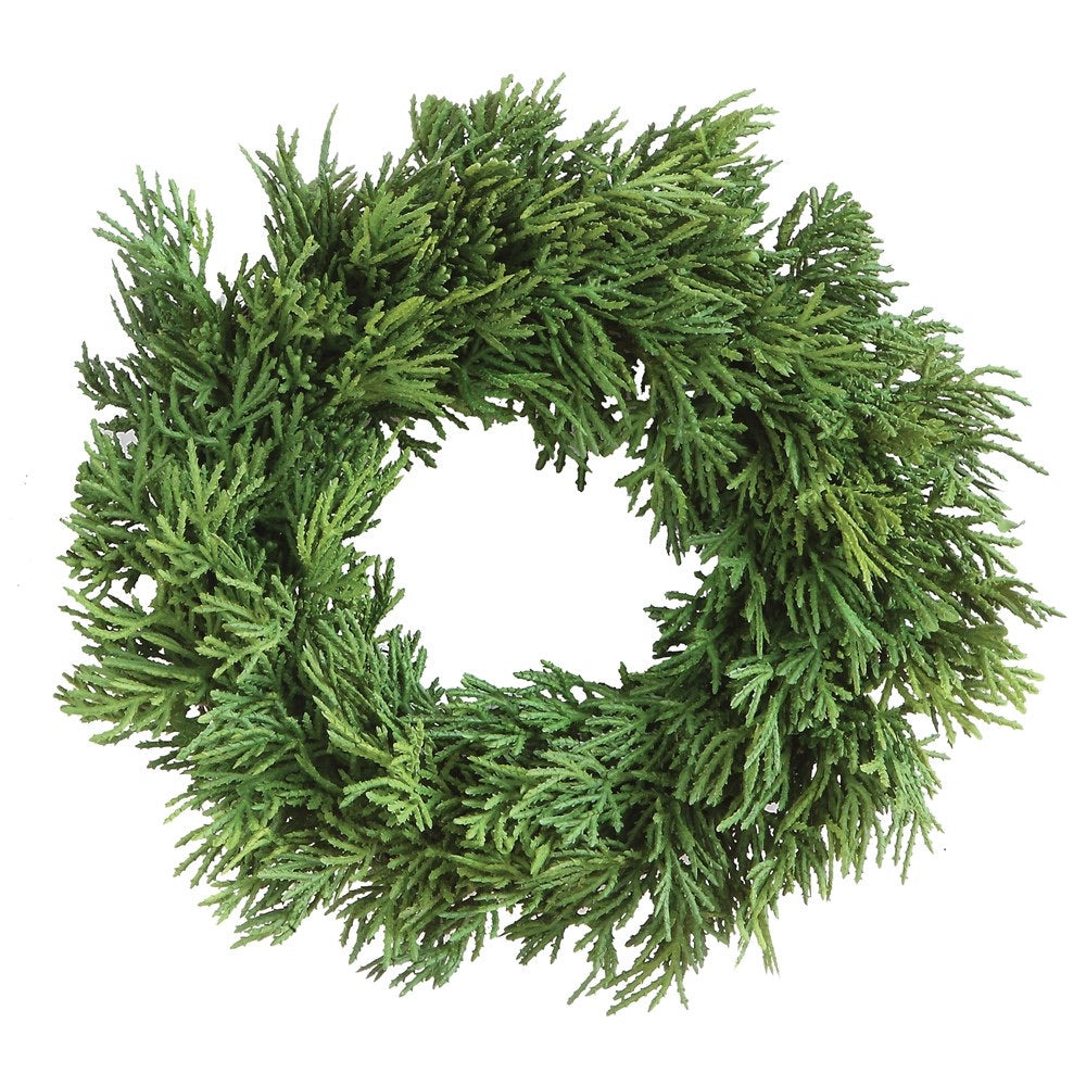 Round Faux Cedar Wreath, 10""