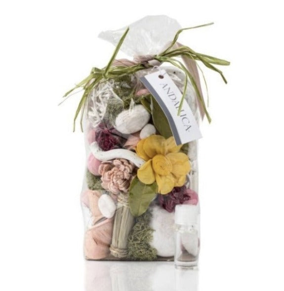 Beautiful Secrets of Spring Potpourri handcrafted with dried botanicals and sola flowers, Great scented filler for trays in tour home!
