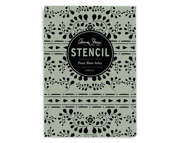 Annie Sloan Stencil- Faux Bone Inlay