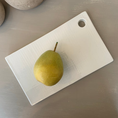 Rectangular Embossed Ceramic Cheese Board