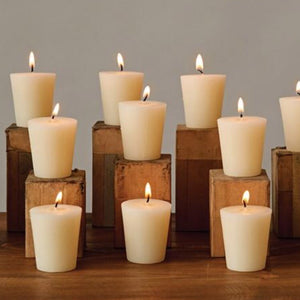 White Votive Candle - Bower on Market