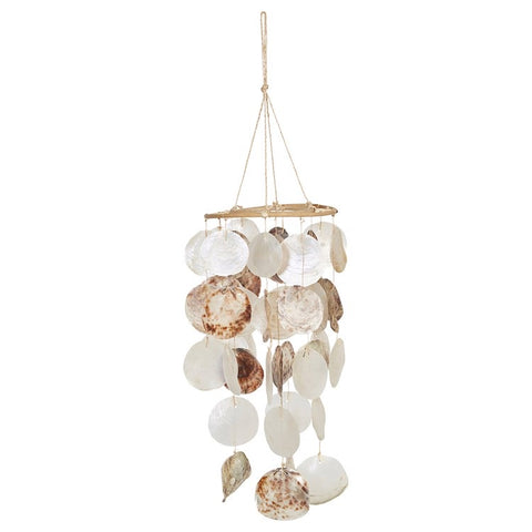 Capiz Shell & Rattan Mobile/Wind Chime