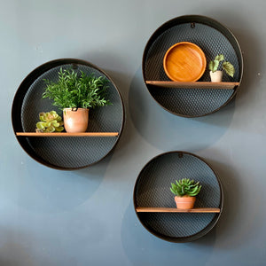 Dark Metal Wall Shelves- RETURNING SOON!