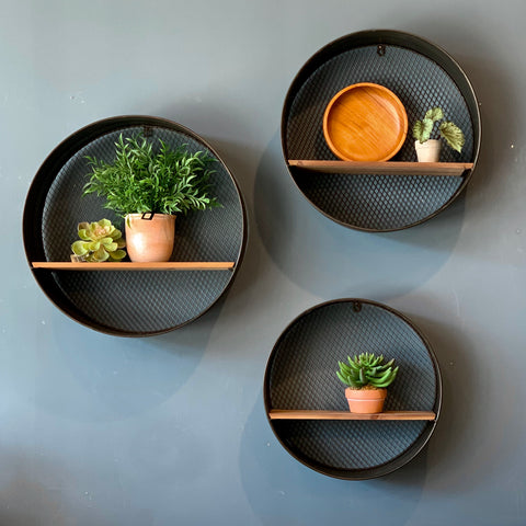 Dark Metal Wall Shelves