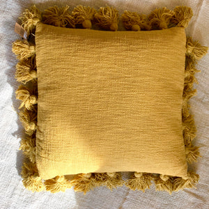 "18"" Square Cotton Pillow with Tassels - the Bower decor market  at The Highlands Wheeling WV"