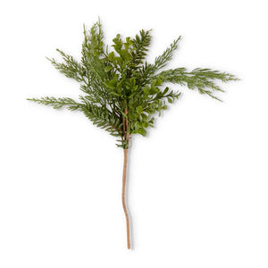 Real Touch Boxwood and Mixed Pine Pick, 18 Inch