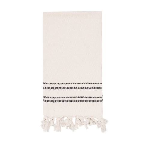 Double Stripe Cotton Fringed Turkish Towel