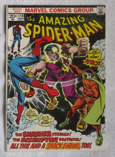 The Amazing Spider-Man #118 (Mar 1973, Marvel) High Grade VF+ 8.5