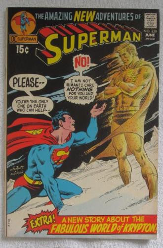 Superman #238 (Jun 1971, DC) Infantino pencils High Grade VF 8.0