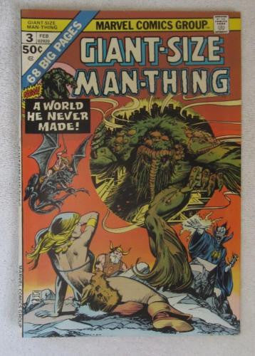 Giant-Size Man-Thing #3 (Feb 1975, Marvel) Gil Kane cvr High Grade VF+ 8.5