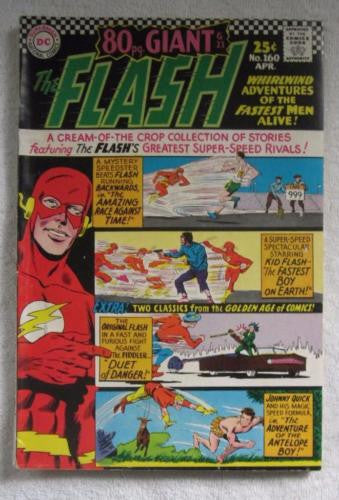 The Flash #160 (Apr 1966, DC) 80 pg Giant Infantino pencils Fine 6.0