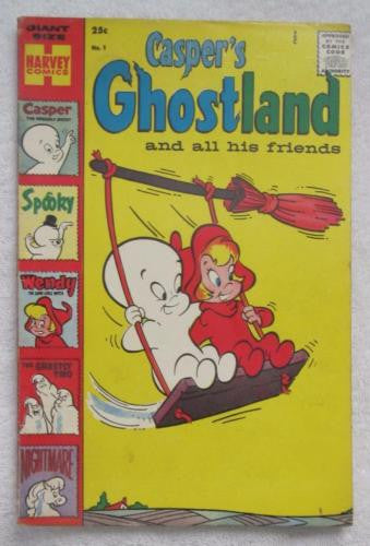 Casper's Ghostland #1 (Winter 1958 - 1959, Harvey) Fine 6.0