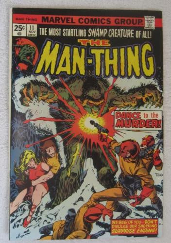Man-Thing #11 (Nov 1974, Marvel) Foolkiller cameo Ploog art High Grade VF/NM 9.0