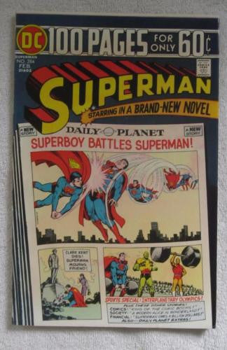 Superman #284 (Feb 1975, DC) 100 Pages VF- 7.5