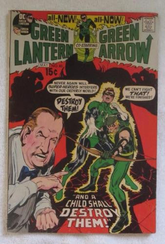 Green Lantern #83 (Apr-May 1971, DC) reveals I.D. to Carol Ferris VG/F 5.0