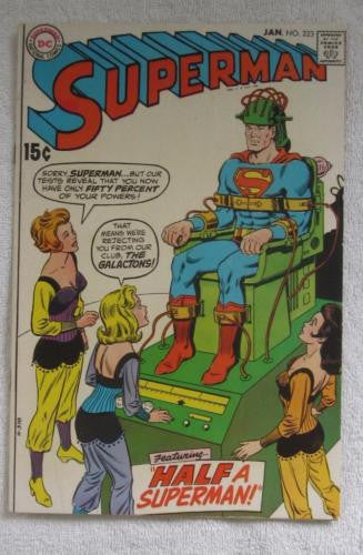 Superman #223 (Jan 1970, DC) Curt Swan pencils F/VF 7.0