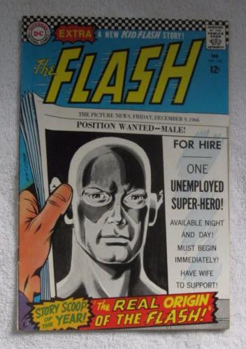 The Flash #167 (Feb 1967, DC) new facts revealed about Flash origin FN- 5.5