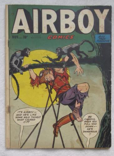 Airboy Comics #Vol. 7#10 [81] (Nov 1950, Hillman) The Heap origin Good 2.0