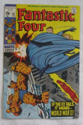 Fantastic Four #95 (Feb 1970, Marvel) Kirby pencils High Grade VF+ 8.5