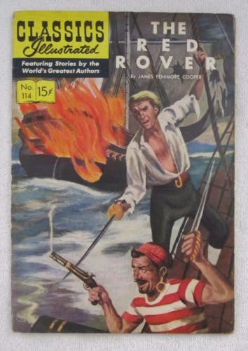 Classics Illustrated #114 [O] - The Red Rover (Dec 1953, Gilberton) VG/F 5.0