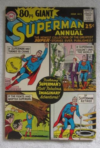 80 Page Giant Magazine #1 Superman Annual (Aug 1964, DC) VG 4.0