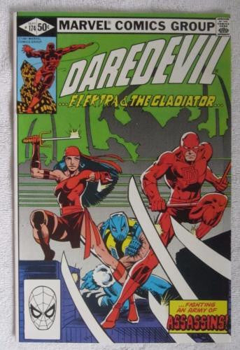 Daredevil #174 (Sep 1981, Marvel) Elektra app Frank Miller High Grade NM 9.2