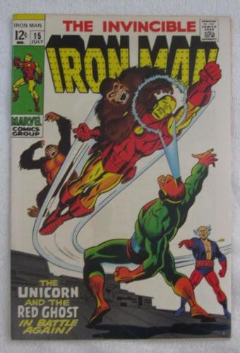 Iron Man #15 (Jul 1969, Marvel) High Grade VF/NM 9.0
