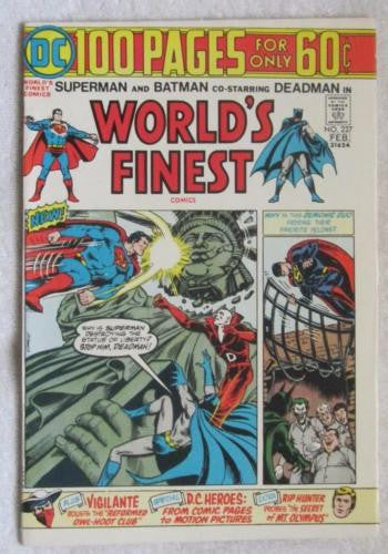 World's Finest Comics #227 (Jan-Feb 1975, DC) Deadman app High Grade VF+ 8.5