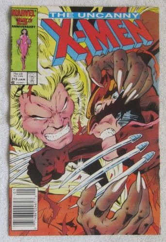The Uncanny X-Men #213 (Jan 1987, Marvel) Wolverine vs Sabretooth VF/NM 9.0
