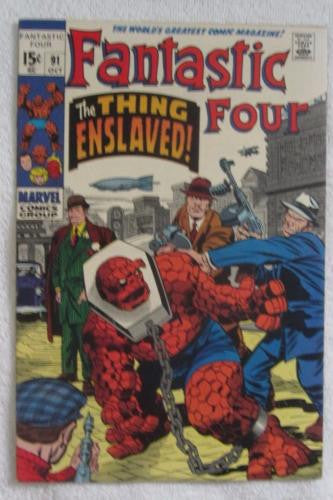 Fantastic Four #91 (Oct 1969, Marvel) Kirby pencils High Grade VF/NM 9.0