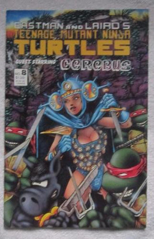 Teenage Mutant Ninja Turtles #8 (1986, Mirage) Cerebus cvr NM 9.2