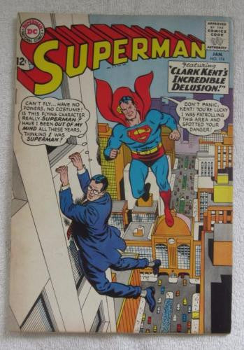 Superman #174 (Jan 1965, DC) Bizarro app VG 4.0
