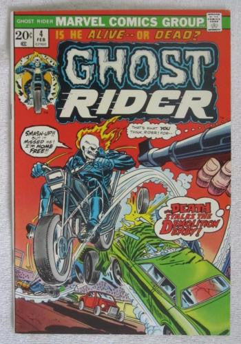 Ghost Rider #4 (Feb 1974, Marvel) Gil Kane pencils High Grade NM 9.2