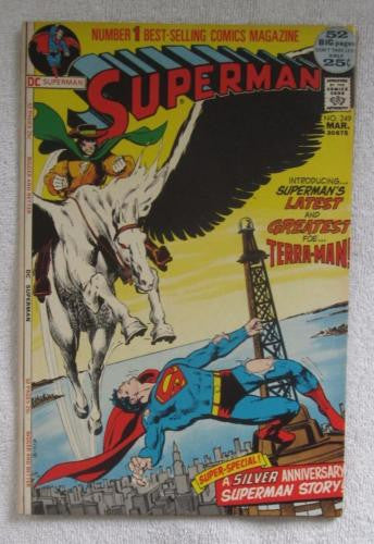 Superman #249 (Mar 1972, DC) Neal Adams 1st app Terra-Man High Grade VF/NM 9.0